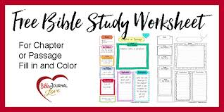 free bible journal key worksheet biblejournallove