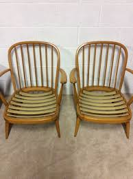 Blonde Bedroom Furniture 1950 A Pair Of Ercol Chairs 334 Blonde Beech Frame Lounge Bedroom Chair