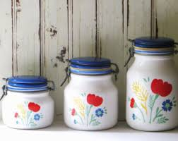 italian canisters kitchen ceramic canister set etsy
