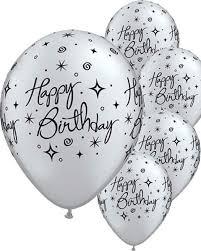 silver balloons happy birthday silver sparkle balloons 6ct 2 1