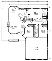 ranch style house plan 3 beds 2 00 baths 1518 sq ft plan 409 110