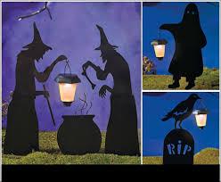 halloween silhouette stake yard decor solar lantern decorations