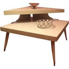 1950 Modern Furniture by Huge Mid Century Modern Blonde Laminate Corner End Coffee Table