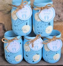 baby shower centerpieces for a boy baby boy shower centerpieces boy baby shower jars