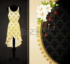 vintage dress with lace ornaments stock photo picture and royalty