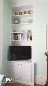 Built In Bookshelves Bespoke Bookcases London Furniture by Fitted Alcove Cupboards With Floating Shelves Above Fitted