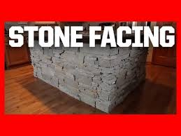 stone kitchen islands add stone facing to your kitchen island youtube