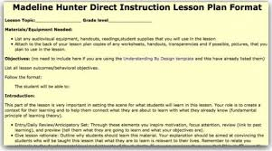 lesson plan template hunter top 10 lesson plan template forms and websites hubpages