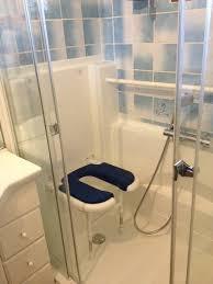 siege toilette pour handicapé siège de adapté toilette intime couleur bleue spéciale