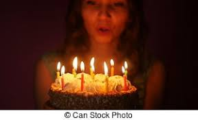 stock footage of happy birthday cake 4 candle csp26181706
