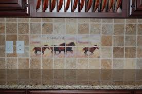 Kitchen Tile Backsplash Murals Murals Kitchen Tile Backsplashes Of Horses Horses Tiles