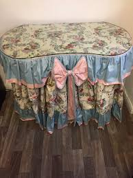 dressing table country style sanderson draped kidney shaped