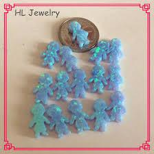 Opal Teh 50pcs lot op06 azure blue 8 5 13mm syntehtic opal boy sale blue