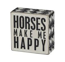 amazon com primitives by kathy square box sign 4 inch horses