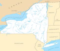 New York Map State by New York Lakes Map New York Map
