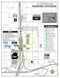 Map Of Orlando Parking U2013 Church Street District
