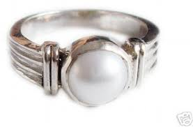 silver ring for men design 5 00 carat pearl ring specially for men gleam jewels
