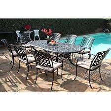 Cast Aluminum Patio Furniture Amazon Com Kawaii Collection Outdoor Cast Aluminum Patio