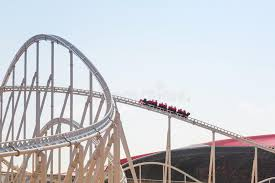 in abu dhabi roller coaster roller coaster at in abu dhabi editorial photo