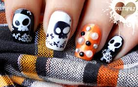 halloween nails u2013 i wish that every day was halloween where evil