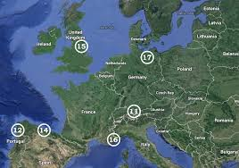 map usa to europe moon landing overlaid on maps of usa and europe show scale