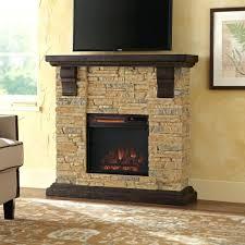 amazing stone electric fireplace tv stand suzannawinter com