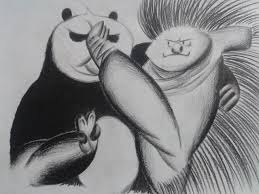 kung fu panda 3 master porcupine and po sketch speed drawing