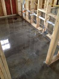 Tiled Basement Floor by Best 25 Stained Concrete Flooring Ideas On Pinterest Concrete