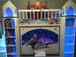 girls castle bed frozen inspired princess castle beds for the ultimate frozen