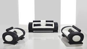 canap design noir et blanc canape 3places 2places fauteuil capsule pouf integre noir blanc cuir