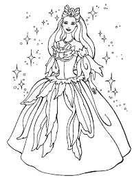 coloring page fairy princess kids coloring