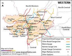western railway zone india map