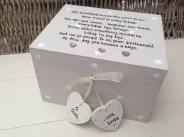 wedding gift boxes uk personalised chic gift for from bridesmaid wedding trinket