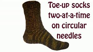 knitting pattern for socks using circular needles toe up socks two at a time on circular needles turkish cast on youtube