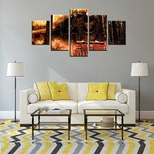 new sale retro and nostalgic whiff train oil painting canvas