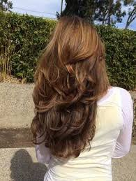 medium hair styles with layers back view long layered hairstyles in diffrent style like v shaped end curls