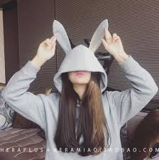 bunny hoodie instock women u0027s fashion clothes tops on carousell