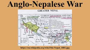 Map Of Nepal India by Anglo Nepalese War Youtube