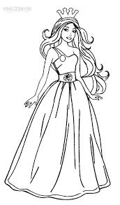 barbie coloring pages print printable barbie princess coloring pages for kids cool2bkids