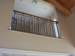 wrought iron interior railings stairs painted designed ornaments