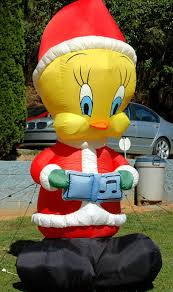 image gemmy 8 ft looney tunes christmas carolling tweety bird
