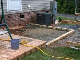 Flagstone Patio On Concrete by Concrete Pavers Patio Ideas Large Concrete Pavers For Patio