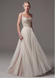wedding dresses without straps buy discount modest tulle spaghetti straps neckline a line wedding