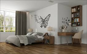 college bedroom ideas for girls light dark hardwood floor grey