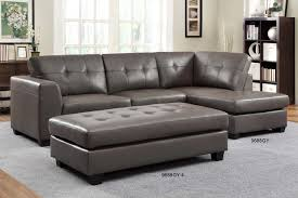 Grey Leather Sectional Sofa Fantastic Small Leather Sectional Sofas Homelegance Modern Small