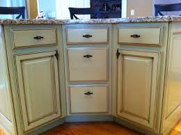 painted or stained furniture or cabinetry farmhouse kitchen