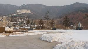 entrance in winter picture of weihai xianguding scenic resort