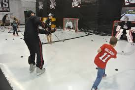 6 shooting stations at rink eye development centre profast8000