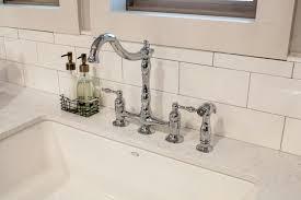 bridge style kitchen faucets wall mount kitchen faucets with sprayer italian bridge faucet rohl