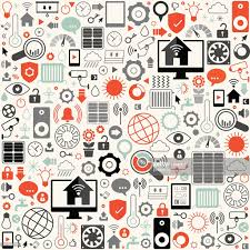 smart house icon set background vector art getty images